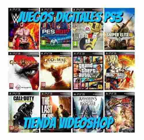 Juegos digitales ps3 en tienda videoshop catálogo