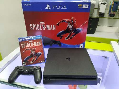 Playstation 4 ps4 slim spiderman edición 1 tb tienda