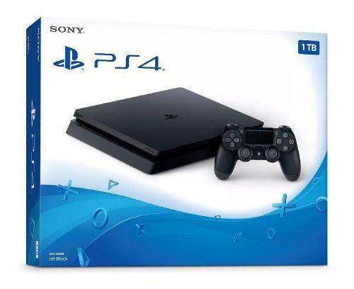 Sony Play Station 4 Video Game Sony Ps4 1tb Slim Core Black