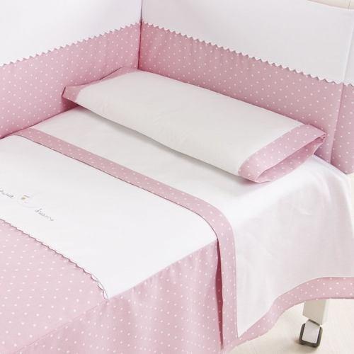 Juego de sábanas para cuna azul, rosado fourtyhouse
