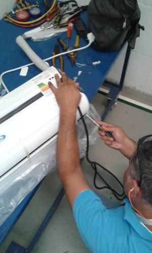 Instalacion basica aire acondicionado split 9.000/12.000.ccs
