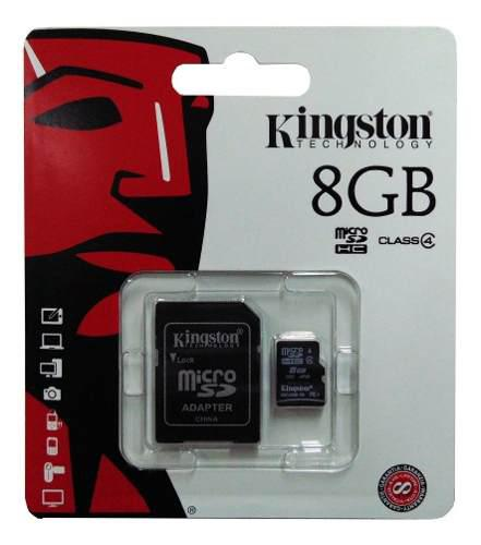 Memoria micro sd hc kingston 8gb clase 4 original sellado