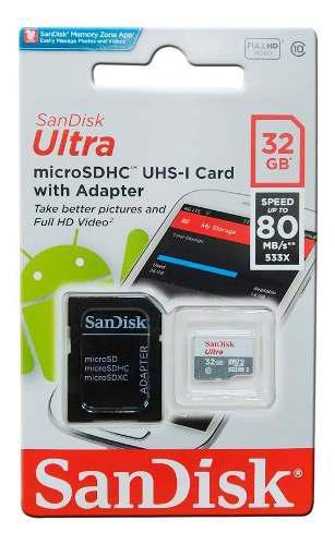 Memoria micro sd hc sandisk 32gb clase 10 original bagc
