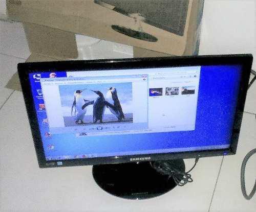 Monitor Samsung Pantalla Led 19 Con Vga Dvi Full Hd (100vrd)