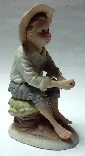Oferta figura porcelana italiana capodimonte niño pescador