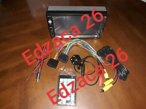 Reproductor pantalla doble din 7 pulgadas camara control