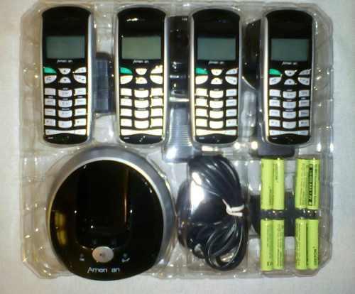 Telefono Inalambrico + 3 Aux Marca American Telecom Dect 6.0