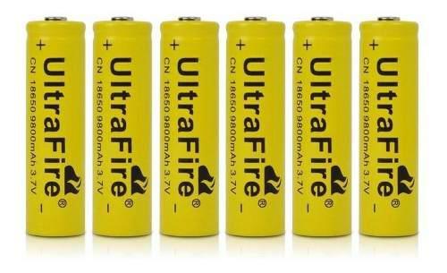 Bateria ultrafire 18650 3.7v- recargable 9800mah amarilla