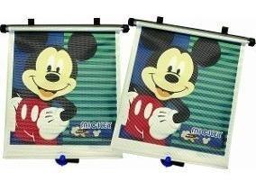 Set 2 persianas para carro de mickey mouse disney niño