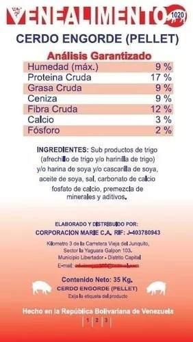 Alimento para cerdos (engorde)