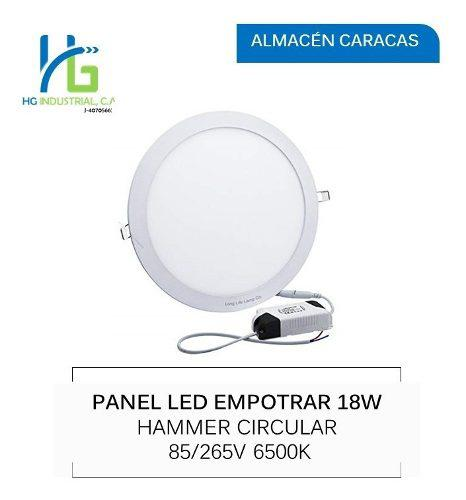 Lampara panel led 18w empotrar luz blanca circular