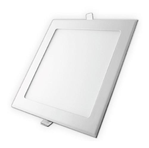 Lampara panel led 3w techo cuadrada spot empotrar ultraplana