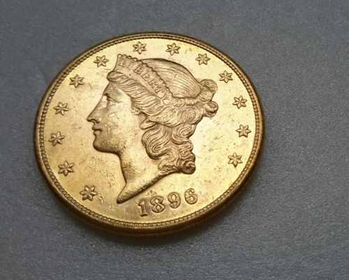 Oferta moneda oro 22 kts coleccion 20d 1896 beachin