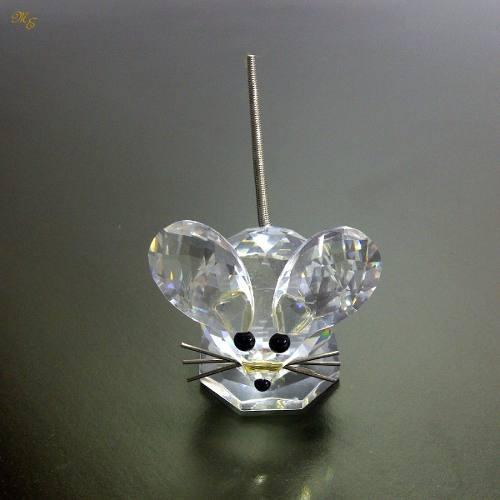 Vintage figura raton de cristal swarovski