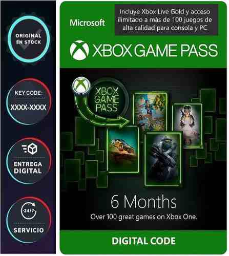 Xbox game pass ultimate 180 dias gold pc 100 juegos xbox one