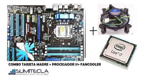 Tarjeta madre asus p7h55 ddr3 y procesador core i7 870