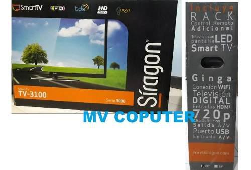Televisor led smart tv siragon 28 monitor wifi tienda