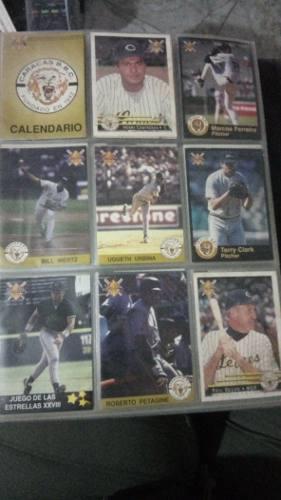 Barajitas o tarjetas colección béisbol precio álbum