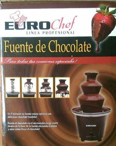 Fuente de chocolate 3 niveles eurochef mas 4 recetarios