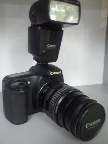 Camara digital profesional canon eos 20d + flash+ accesorios