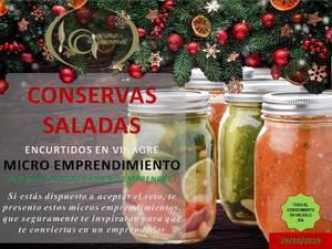 Conservas saladas encurtidos y envasado al vacío taller