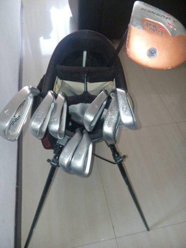 Juego de palos de golf marca ping de grafito con bolso
