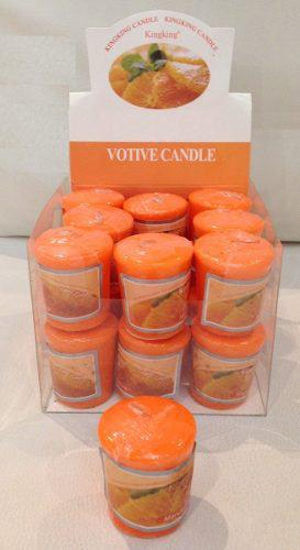 Set 18 velas votivo color naranja-5 cm de altura