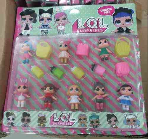 Set muñecas lol surprise + 8 accesorios juguete niña