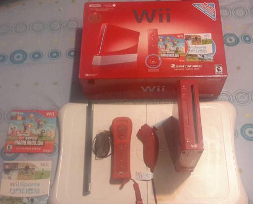 Nintendo wii rojo + wii fit como nuevo consola juegos
