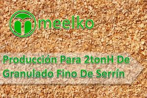 Producción para de granulado fino de serrín meelko