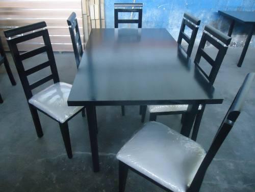 Juego de comedor 6 sillas espaldar curvo precio de fabrica