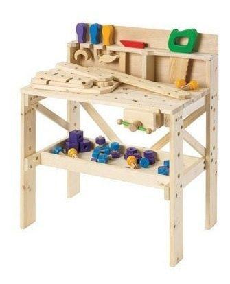 Mesa de juegos y carpinteria para niños discovery kids