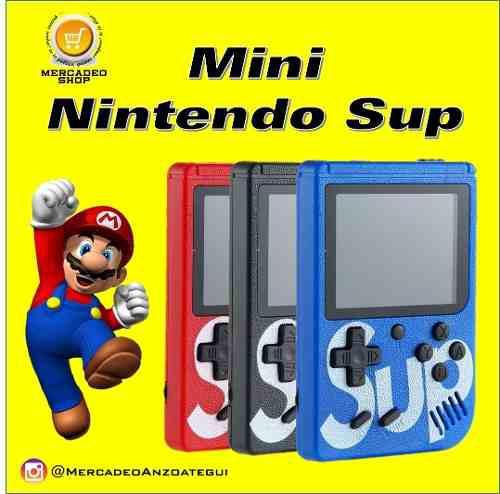 Mini video juegos nintendo gameboy sup. recargable