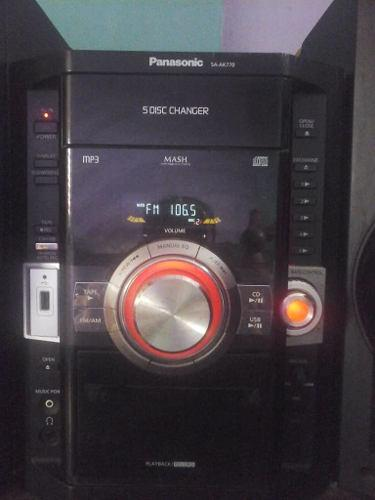 Equipo De Sonido Panasonic Ak770¡ 130ver