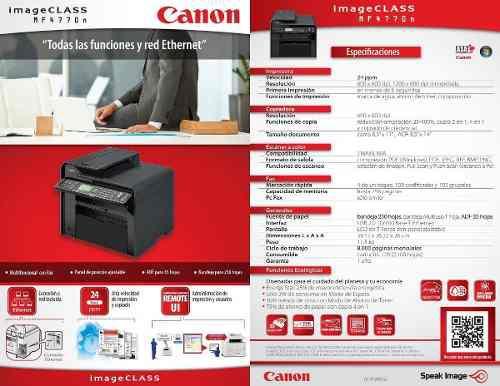 Fotocopiadora laser 4in1 canon mf-4770n oferta 180vrds