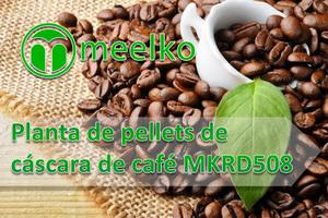 Planta de pellets de cáscara de café mkrd508 meelko