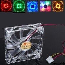 Fan cooler 80x80mm 8x8cm acrilico led 12v para pc