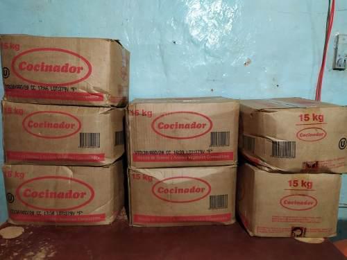 Manteca vegetal comestible el cocinador de 15 kilo cada caja