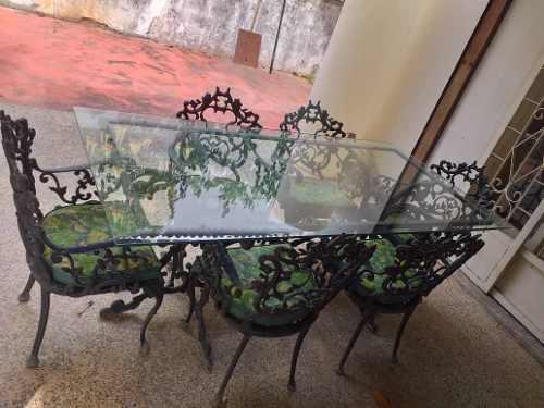 Mesa comedor 6 puestos para jardín