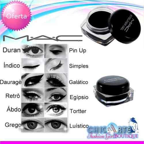 Pomadas para cejas y ojos mac color marrón o negra