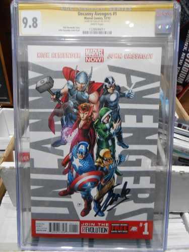 Uncanny avengers #1 autografiado por stan lee certificado