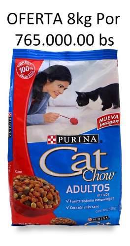 Gatarina Purina Cat Chow 8 Kilos Sabor A Carne