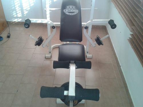 Banco de pesas marca amco athletics mas juego de pesas