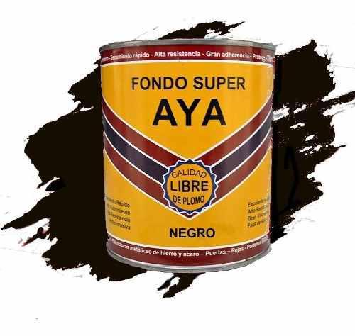 Fondo Anticorrosivo Aya 1/4 Gal Color Negro Fs-905