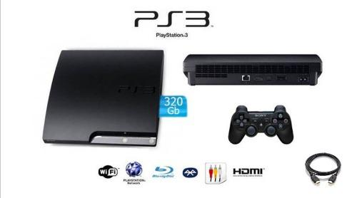 Playstation 3 slim, original 320 gb, 1 control y juegos