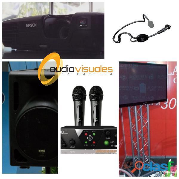 Alquiler video beam sonido televisores