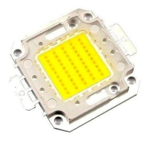Led 50w chip faro reflector blanco + pasta térmica 30v-36v
