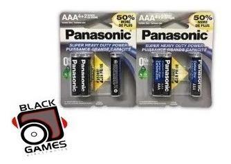 Pilas baterias aaa panasonic heavy dutyx6 1.5v tienda fisica