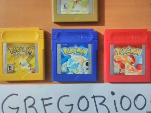 Pokemon Blue, Red, Yellow + Guia Pokémon, Precio V!