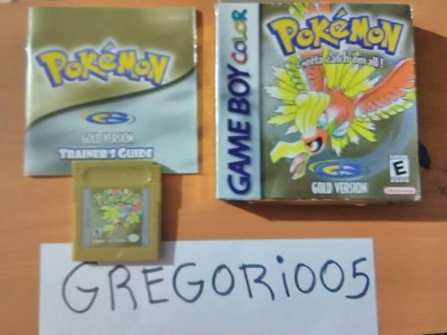Pokemon Gold, Game Boy Color, Completo Precio V!